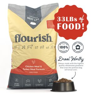 Flourish 33 LB bag of dog food Chicken Meal & Turkey Meal Formula