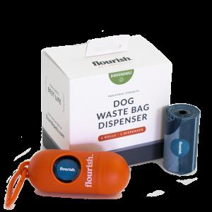 Dog Waste Bag Dispenser + 6 Rolls